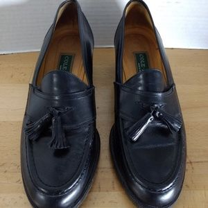 Cole Haan Leather Loafers SZ 7.5 B Black Tassles